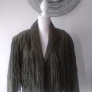 Vintage - Suede Jacket with  Fringes
